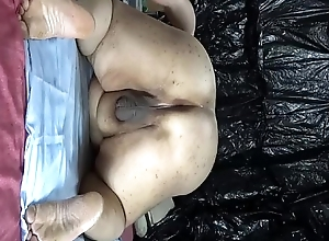 Chubby Japanese &quot_shino&quot_ exposes round spin out semen unfamiliar ass hole.