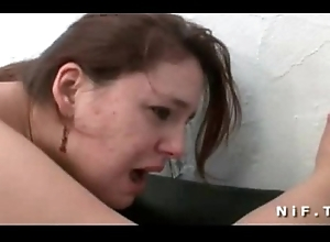 BBW french slut unending anal fucked and fisted in threeway