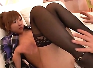Rinka Aiuchi gets a huge dick to smash her soft cunt