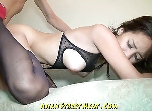 Temperately Brown Eyed Asian Anal