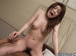 Asian hairy gash gets yon hate fucked in close up
