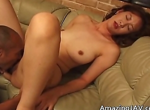 Shove around asian gets a warm facial