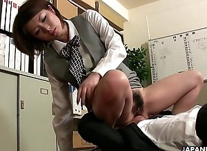 Her Asian jungle receives a nice stiff dicking