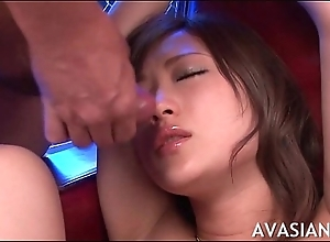 Venal asian whore tied up and facial cumshot