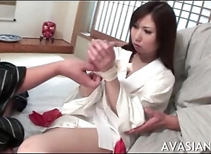 Shy asian girl gets her pussy spread wide by some strangers