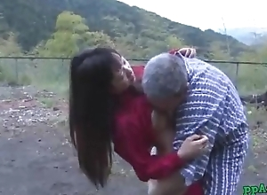 Asian Cooky Getting Her Pussy Licked And Fucked Wits Old Man Cum To Ass Alfresco At