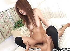Torrid Japanese babe toyed and fucked