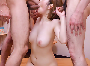 Grouo Asian porn with obedient Doremi Miyamoto