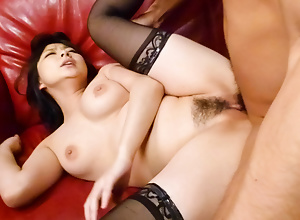 Perfect blowjob together with hardcore fuck apart from sweet hottie Megumi Haruka