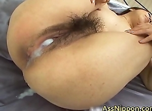 Hairy Pussy vs Overheated Wine Asian Porn Stiffener