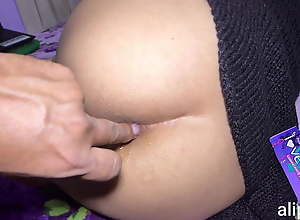 Hard a bit of butt with cum inside oversexed latina ass