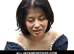 Miku is a horny of age Japanese babe